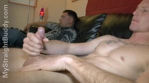 Male masturbation with male buddies