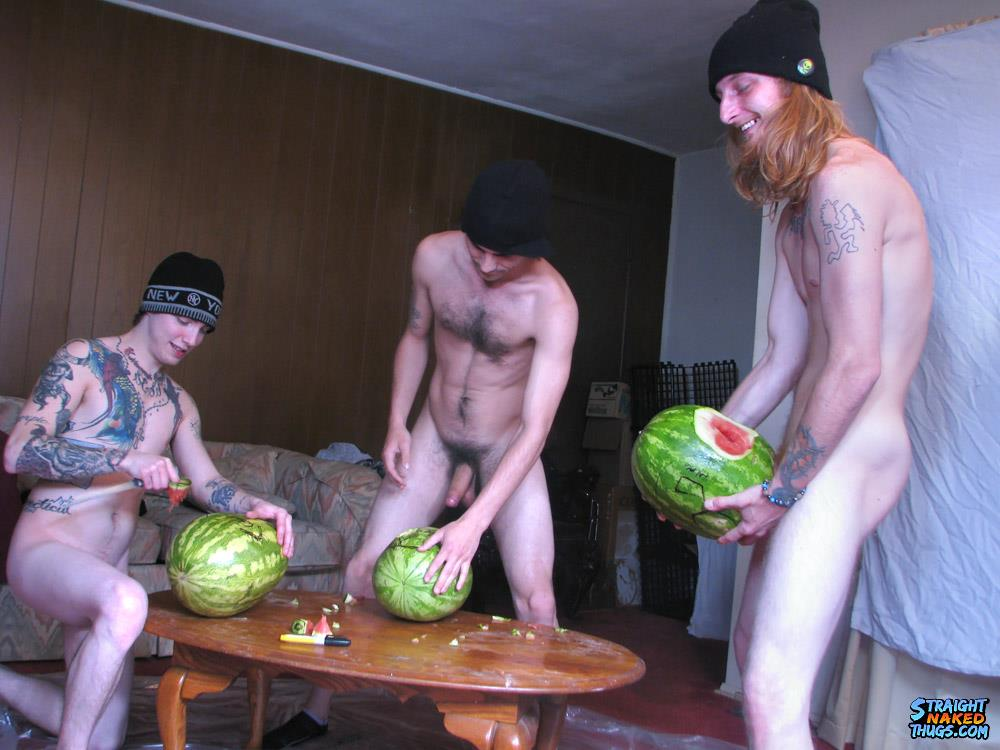 Straight Naked Thugs Devin Reynolds and Blinx and Kenneth Slayer Fucking A Watermelon Amateur Gay Porn 07 Straight Southern Naked Rednecks Fuck Some Watermelons With Their Big Dicks